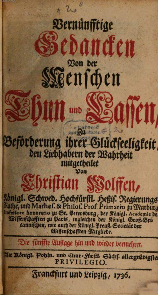 Wolff Deutsche Ethik Titelbild
